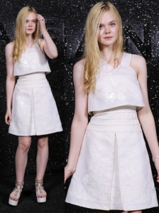 Elle Fanning in Chanel Cocktail Dress