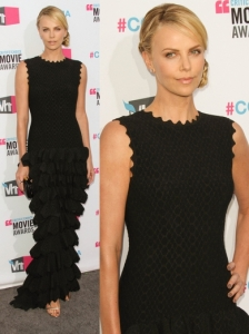 Charlize Theron in Alaia Couture Tiered Gown