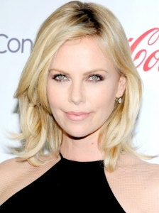 Charlize Theron Layered Medium Hairstyle