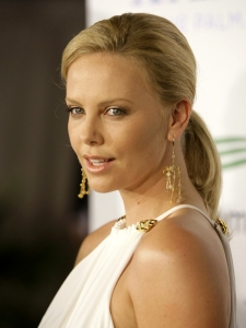 Charlize Theron with Smooth Ponytail