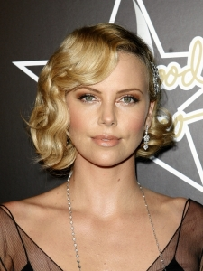 Charlize Theron with Retro Finger Waves