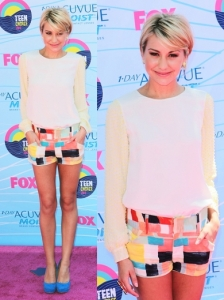Chelsea Kane in French Connection/ Alice + Olivia