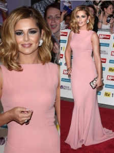 Cheryl Cole in Victoria Beckham Long Dress