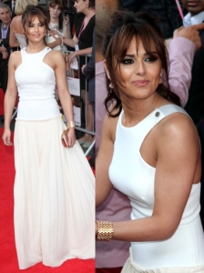 Cheryl Cole in Victoria Beckham White Maxi Dress