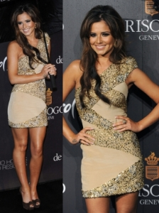 Cheryl Cole in Elie Saab Sequin Dress