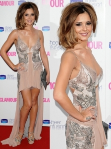 Cheryl Cole in Julien Macdonald Lace Mullet Gown