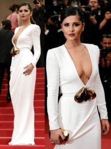 Cheryl Cole in Stephane Rolland White Gown