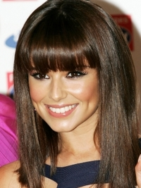 Cheryl Cole's Hairstyle with Blunt Bangs