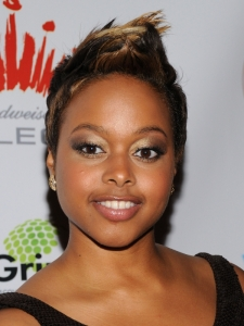 Chrisette Michele with Short Fohawk Hairstyle