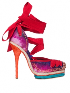 Christian Dior South Pacific Fantasy Espadrille Pumps