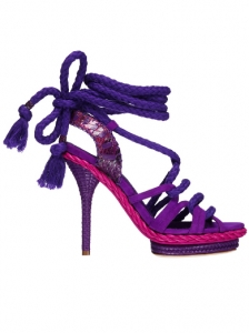 Christian Dior Purple Calfskin Sandals