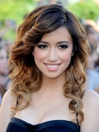 Christian Serratos Spiral Curly Hairstyle