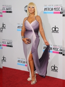 Christina Aguilera in Pamella Roland at the 2012 AMAs