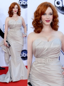 Christina Hendricks in Christiano Siriano Gown
