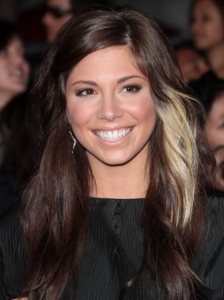 Christina Perri Long Casual Hairstyle