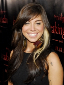 Christina Perri Long Layered Hairstyle