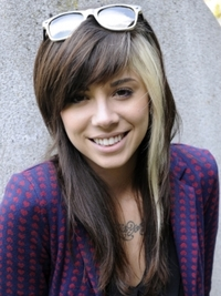 Christina Perri Hairstyle with Blonde Chunk