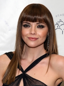 Christina Ricci Long Hairstyle with Bangs