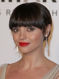 Christina Ricci Updo with Heavy Bangs