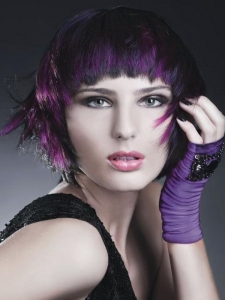 Edgy Purple Layered Haircut