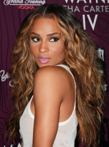 Ciara with Blonde Hair Highlights