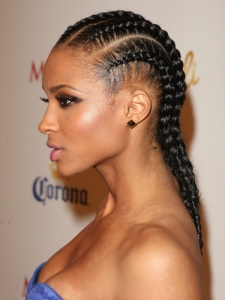 Ciara Cornrow Braids Side View