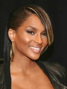 Ciara's Updo Hairstyle with Sweeping Bangs