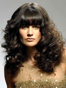 Voluminous Long Curly Hair Style