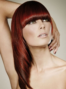 Long Fiery Red Hair Style
