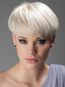 Blonde Close-Cropped Haircut