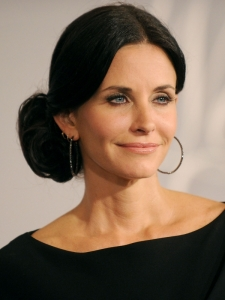 Courtney Cox Side Bun Updo