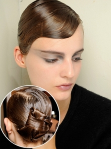 Hairstyle from Armani Prive Couture 2012