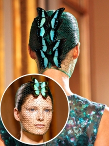 Hairstyle from Giambattista Valli Couture 2012