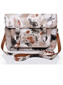 Cracked Floral Water Colour Satchel