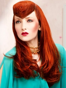 Long Red Hairstyle Idea