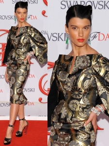 Crystal Renn in Zac Posen Dress