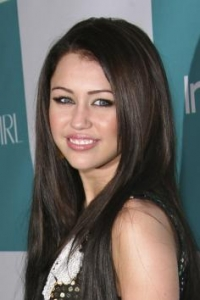 Miley's Long Sleek Hairstyle