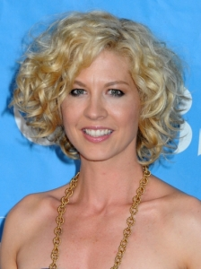 Jenna Elfman Curly Wedge Hairstyle