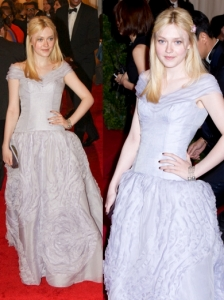 Dakota Fanning in Louis Vuitton Gown
