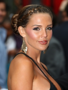 Danielle Lloyd's French Braid Chignon Updo
