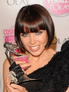 Dannii Minogue Short Angled Bob with Bangs