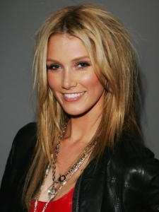 Delta Goodrem Long Blonde Hairstyle