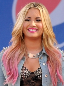 Demi Lovato's Pink Dip Dyed Hair Color