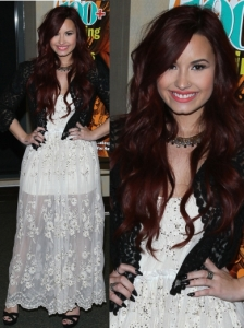 Demi Lovato Wears Lace On Lace