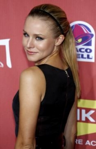 Kristen Bell with High Ponytail