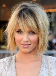 Dianna Agron Layered Medium Hairstyle