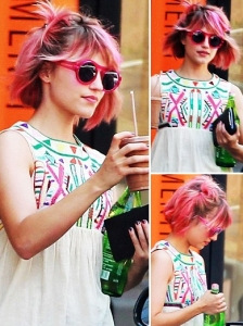 Dianna Agron New Pink Hair Color