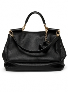 Dolce and Gabbana Medium Black Leather Bag