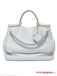 Dolce and Gabbana Medium Grey Leather Bag