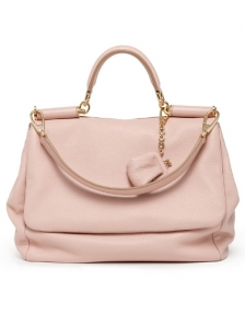 Dolce and Gabbana Medium Pink Leather Bag